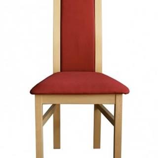 Jedálenská stolička Agáta, sonoma, bordó