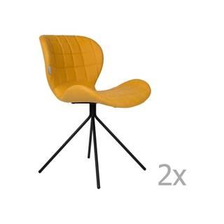 Sada 2 žltých stoličiek Zuiver OMG LL
