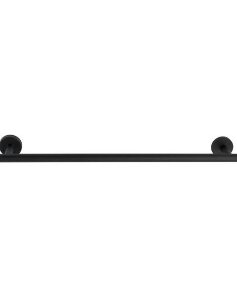 Wenko Čierny antikoro nástenný držiak na uteráky Wenko Bosio Rail Uno