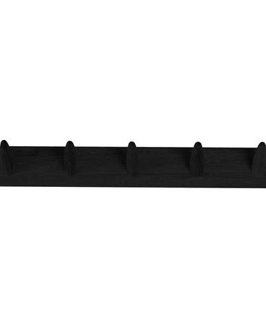 Čierny vešiak na oblečenie z dubového dreva Canett Uno, šírka 60 cm