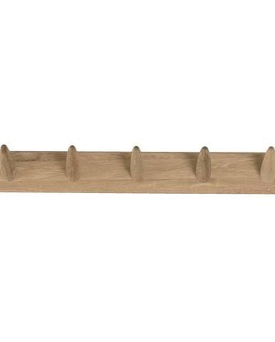 Nástenný vešiak na oblečenie z dubového dreva Canett Uno, šírka 60 cm