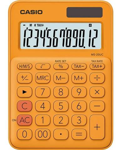 Kalkulačka Casio MS 20 UC RG oranžov