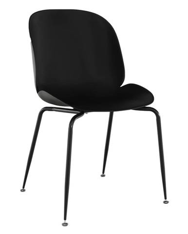 Jedálenská stolička čierna MENTA rozbalený tovar