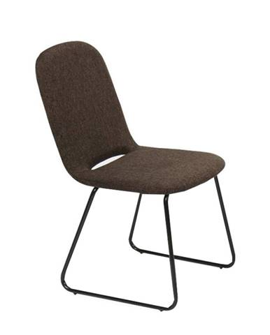 Jedálenská stolička hnedá/čierna ADLAN poškodený tovar