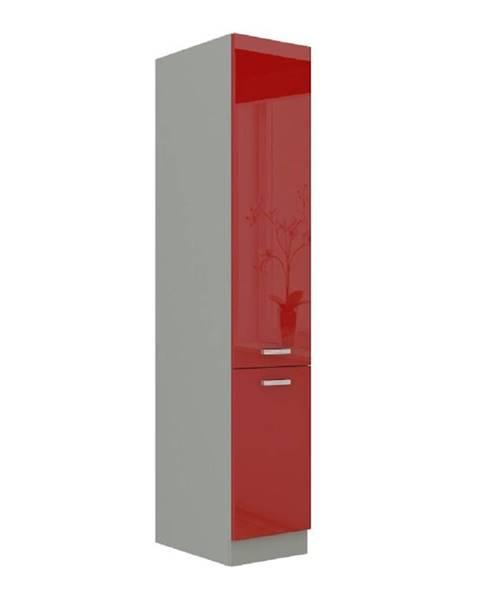 Kondela Skrinka potravinová vysoká červený vysoký lesk PRADO 40 DK-210 2F