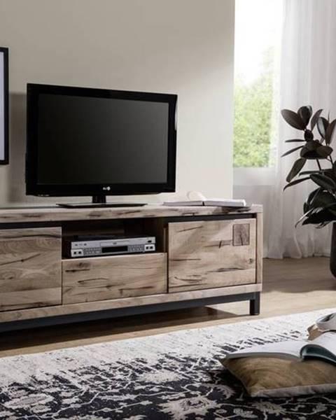 Bighome.sk TIROL II. TV stolík 170x56 cm, svetlohnedá, dub