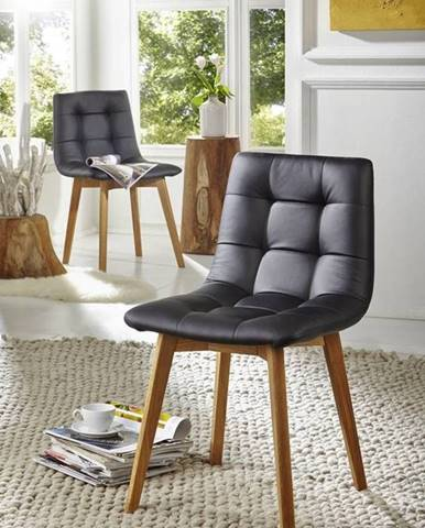 HAMBURG Jedálenská stolička čalúnená, čierna