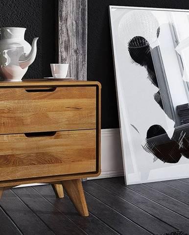SKANE Nočný stolík 30x47 cm, dub, prírodná
