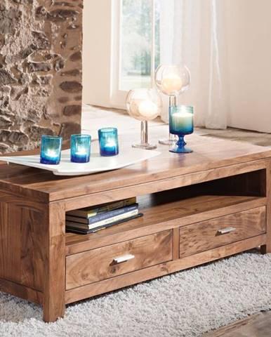 KOLINS Konferenčný stolík s poličkou 110x60 cm, akácia
