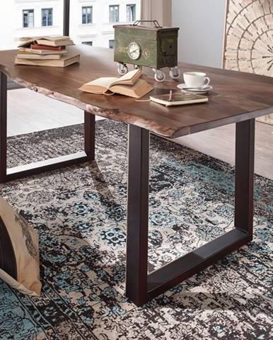 METALL Jedálenský stôl s antracitovými nohami (matné) 200x100, akácia, sivá