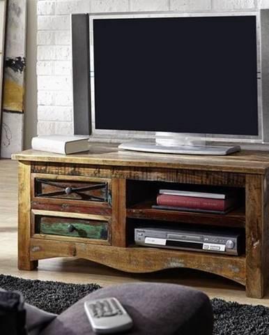 OLDTIME TV stolík 110x50 cm, staré drevo