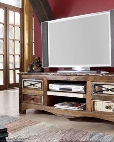 OLDTIME TV stolík 140x50 cm, staré drevo