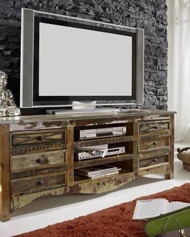 OLDTIME TV stolík 160x60 cm, staré drevo
