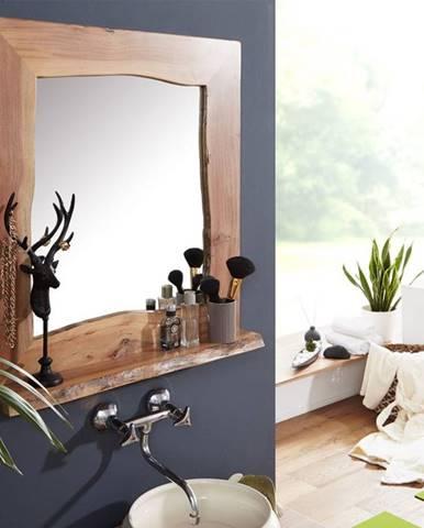 WOODLAND Kúpeľňové zrkadlo 70x78 cm, prírodná, akácia