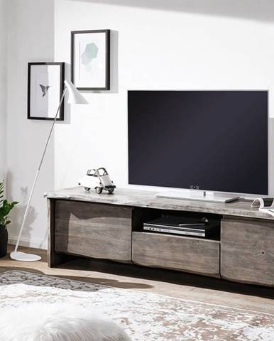 WOODLAND TV stolík II. 191x50 cm, sivá, akácia