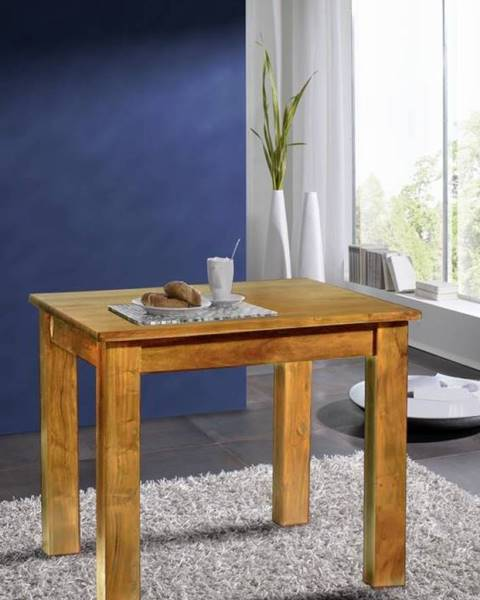 Bighome.sk CAMBRIDGE HONEY Jedálenský stôl 85x85 cm, akácia