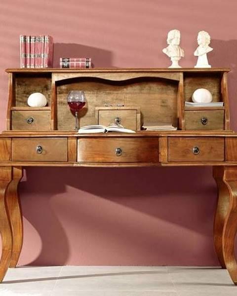Bighome.sk CAMBRIDGE HONEY Písací stôl 130x60 cm, akácia
