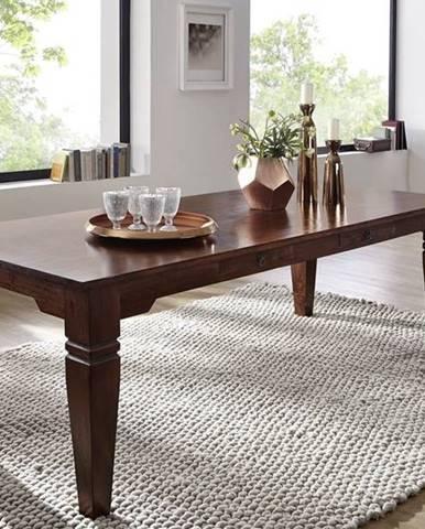CAMBRIDGE Jedálenský stôl s 2 šuplíkmi 200x100 cm, akácia