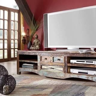 OLDTIME TV stolík 180x50 cm, staré drevo