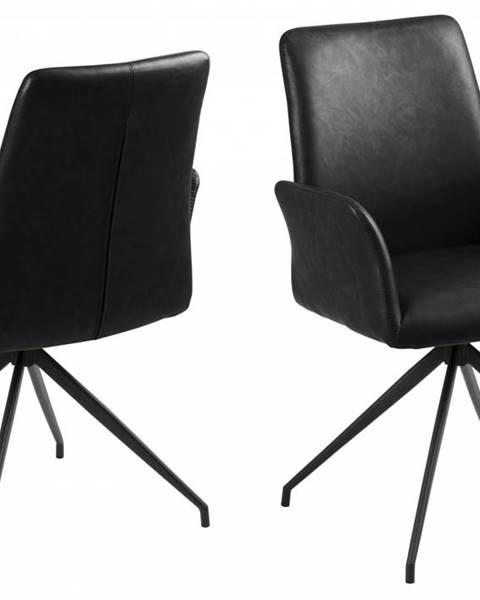 Bighome.sk Jedálenská stolička s opierkami NAYA, čierna