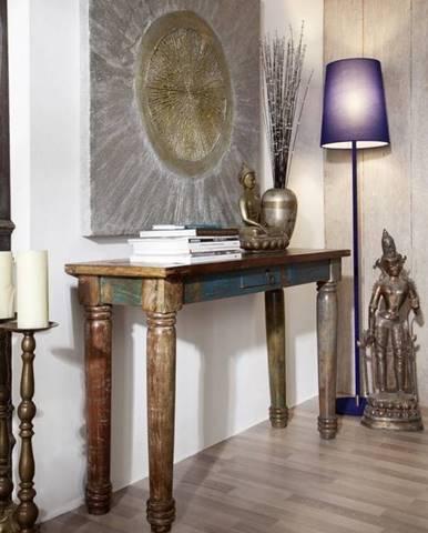 COLORES Konzola 120x40 cm, staré drevo