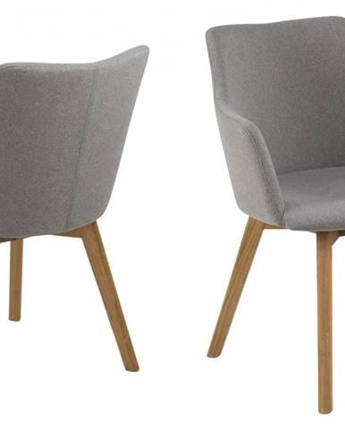 Jedálenská stolička s opierkami BELLA, svetlosivá