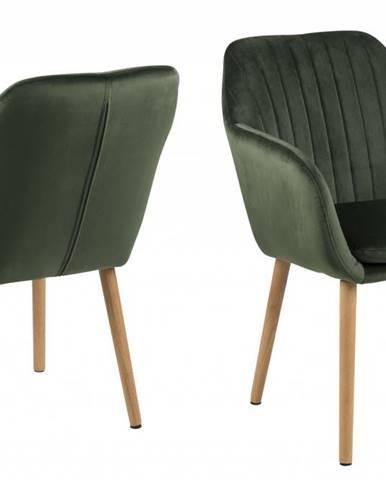 Jedálenská stolička s opierkami EMILIA, tmavozelená
