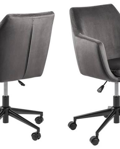 Kancelárska stolička NORA, tmavošedá