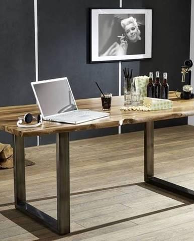 ROUND Jedálenský stôl 180x90 cm, hnedá, palisander