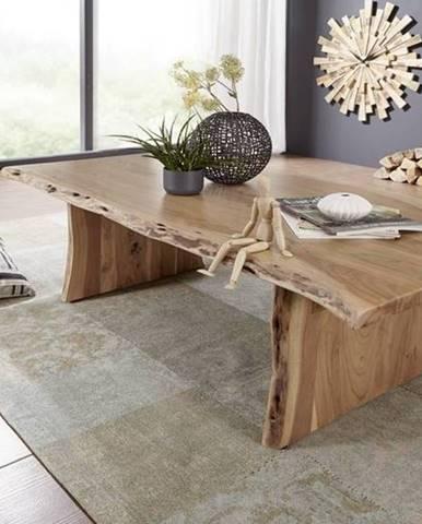 WOODLAND Konferenčný stolík 150x70 cm, prírodná, akácia