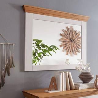 BIANCA Zrkadlo 109x80 cm, borovica