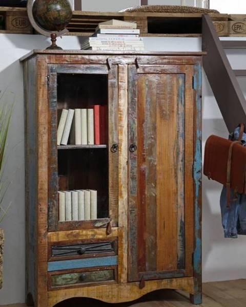 Bighome.sk OLDTIME Vitrína 140x95 cm, staré drevo