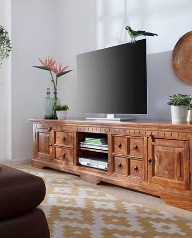 CAMBRIDGE HONEY TV stolík 220x55 cm, akácia