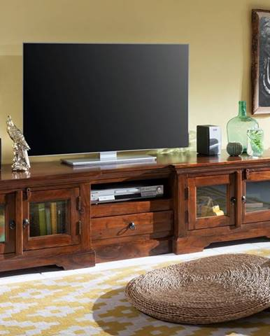 CAMBRIDGE TV stolík 210x50 cm, akácia