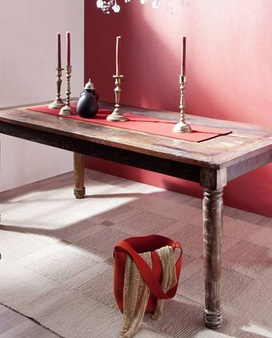 COLORES Jedálenský stôl 80x80 cm, staré drevo