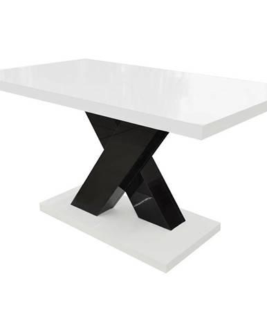 Konferenčný stolík Ksena čierna/biela lesk