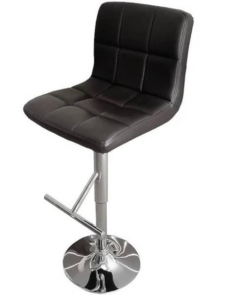 MERKURY MARKET Barová stolička Bruno čierna 7142