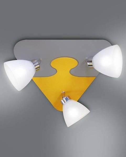 MERKURY MARKET Lampa puzzle K3P-8 žltá/šedá PL3