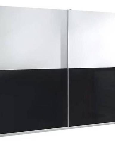 Skriňa Lux 5 244 cm biela  lesklá/čierna  lesklá