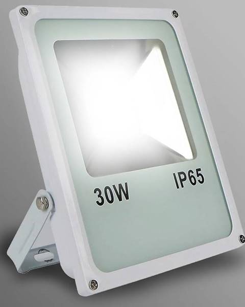 MERKURY MARKET Biely LED reflektor 20W IP65 1600LM 4000K EK724