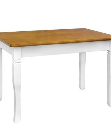 Jedálenský stôl Mars biely+ dub 120X70