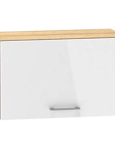 Kuchynská skrinka Mocca W60 OKGR macate/biely lesk  BB