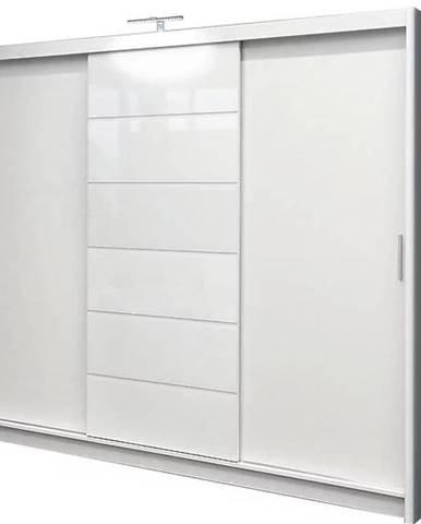 Skriňa Malibu 250 cm biela