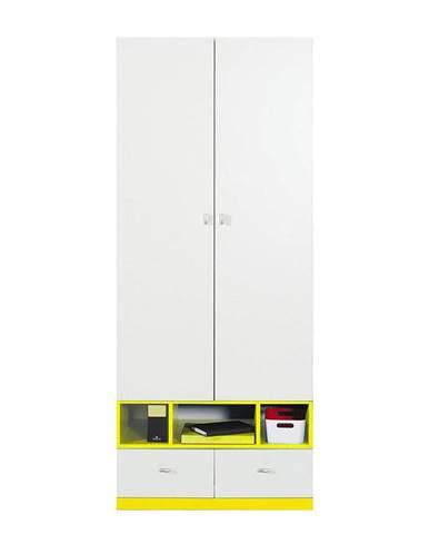Komoda Mobi MO-2 bielo žltá