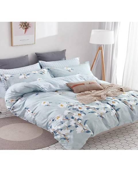 MERKURY MARKET Bavlnená saténová posteľná bielizeň albs-01042b/2 140x200 lasher