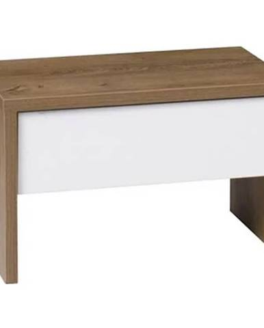 Nočný stolík dub burgund/biely