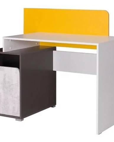 Písací stôl Bruno 8 120/100 grafit/enigma/žltá