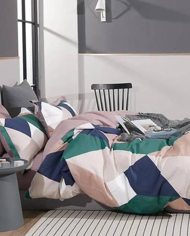 Bavlnená saténová posteľná bielizeň ALBS-01219B 160X200