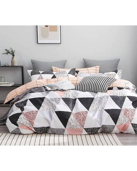 MERKURY MARKET Bavlnená saténová posteľná bielizeň ALBS-01161B/2 140X200 Lasher