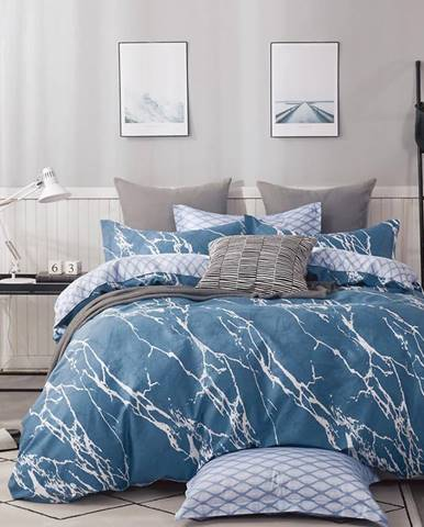 Bavlnená  saténová  posteľná  bielizeň  Albs-01127b/2  140x200